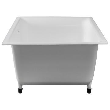 Edward Built-In Bath w/ Overflow 530x820x500mm Gloss White