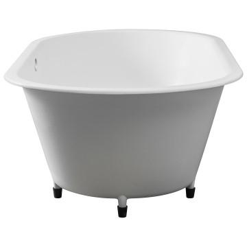 Conrad Built-In Bath w/ Overflow53kg 1800x910x55mm Gloss White