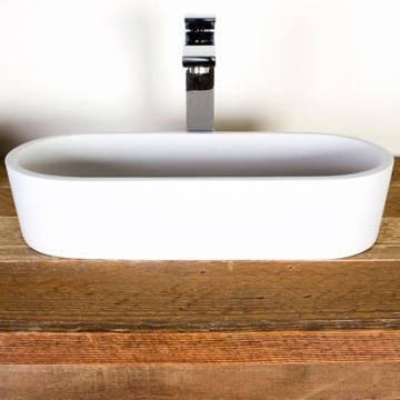 Perth Large Countertop Basin Large 575x245x120mm Pearl White