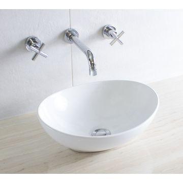 Mini Scoop Countertop Basin 410x330x145mm White