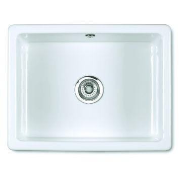 Inset 600 Butler Sink 595x460x255mm White