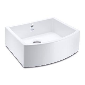 Waterside 600 Butler Sink 597x530mm White
