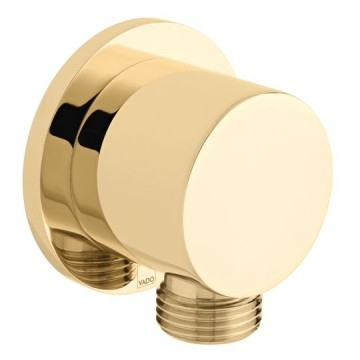 Round Wall Outlet Only Bright Gold