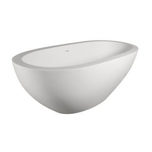 Moloko Freestanding Bath No Overflow 1775x785x605mm Pearl White