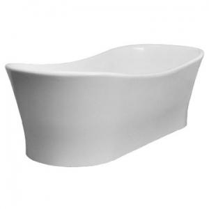 Elegance Slipper Freestanding Bath no Overflow 1770x780x575/520mm Pearl White