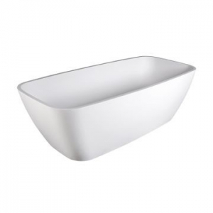 Deonne Freestanding Bath No Overflow 1630x755x485mm Gloss White