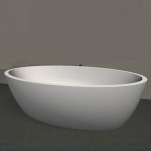 Standard Maya Freestanding Bath 570x890x1710mm Gloss White