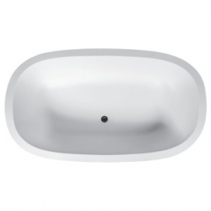 Zenith Freestanding Bath with Overflow 1850x1130x475mm Pearl White