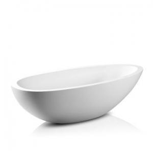 Elaine Freestanding Bath No Overflow 1940x930x530mm Gloss White