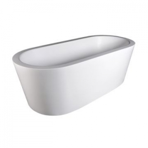 Perth Freestanding Bath No Overflow 1785x800x610mm Gloss White