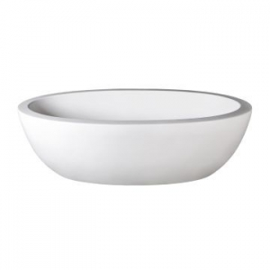 Angela Freestanding Bath No Overflow 1700x940x520mm Pearl White