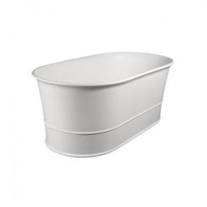 Julia Freestanding Bath No Overflow 1530x825x600mm Pearl White