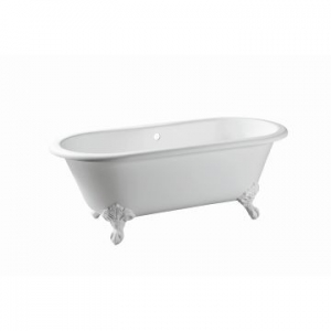 Warwick Freestanding Bath No Overflow 1700x775x630mm Pearl White incl Feet