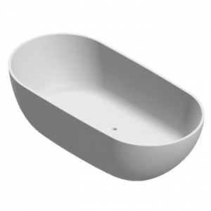 Dubai Freestanding Bath No Overflow 1650x830x500mm Gloss White