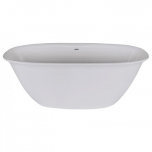 Brooke Freestanding Bath with Overflow 1650x800x600mm Pearl White
