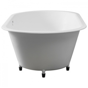 Conrad Built-In Bath w/ Overflow53kg 1800x910x55mm Pearl White