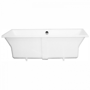 Charles 1600 Drop-In Bath with Overflow 1600x800x500mm Polished White