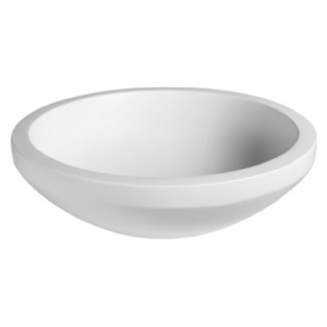 Bologna Small Countertop Basin 445x445x135mm Pearl White