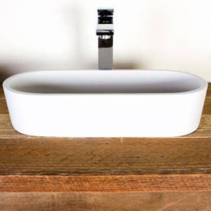 Perth Large Countertop Basin Large 575x245x120mm Gloss White