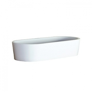Perth Small Countertop Basin 490x220x105mm Gloss White