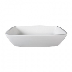 Deonne Countertop Basin 560x365x120mm Pearl White