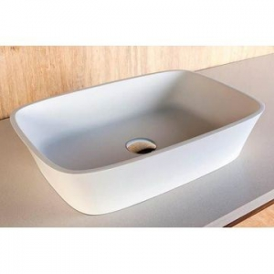 Carmen Countertop Basin 545x350x120mm Pearl White