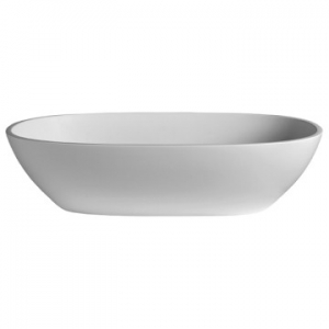 Amsterdam Countertop Basin 550x350x125mm Pearl White