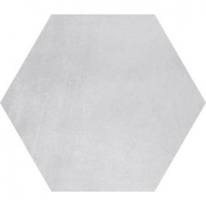 Stark Hex Floor Tile Porcelain 250x290mm Argent