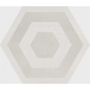 Stark Hex Decor Floor Tile Porcelain 258x290mm Desert