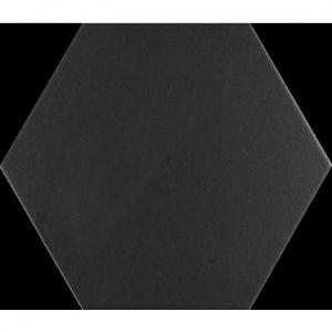 Hex Basic Floor Tile Porcelain 250x220mm Black