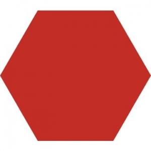 Basic Hex Floor Tile Porcelain 250x220mm Red