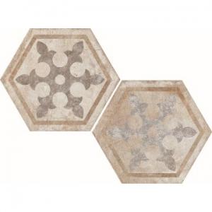 Heritage Exagona Floor Tile Porcelain 345x400mm Texture 1