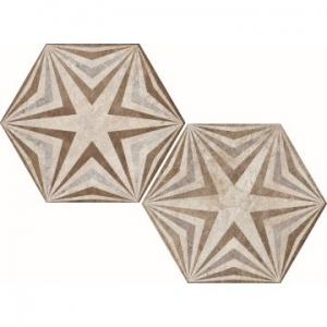 Heritage Exagona Floor Tile Porcelain 345x400mm Texture 3