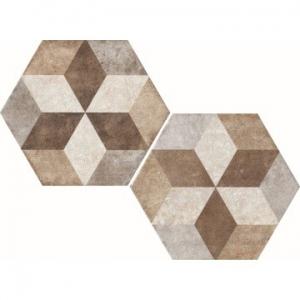 Heritage Exagona Floor Tile Porcelain 345x400mm Texture 4