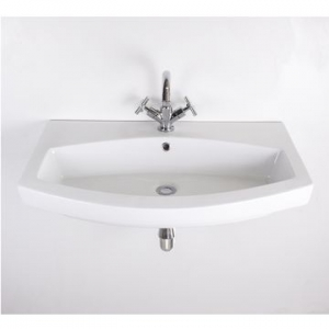 Belle Large Wall-Hung Basin 810x480x160mm White