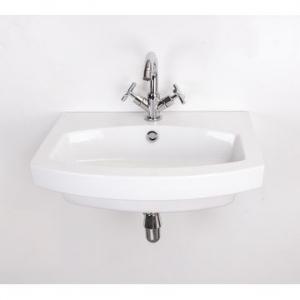 Belle Medium Wall-Hung Basin 600x480x160mm White