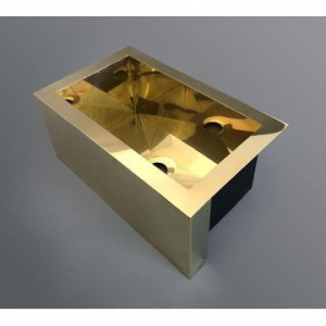 Rectangular Countertop Basin Small 450x250x180mm Brass - Not Covered All The Way Around