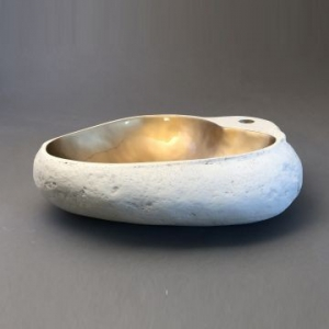 Millstone Countertop Basin 560x400mm Gold