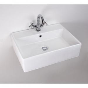 Rossco Medium Rectangular Wall-Hung Basin 450x580x160mm White