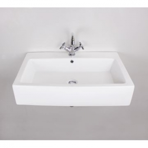Rossco Rectangle Large Wall-Hung Basin 500x770x160mm White