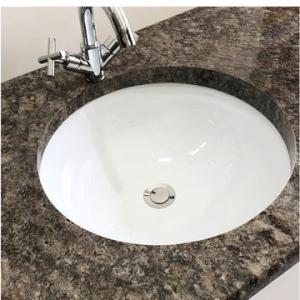 Medium Round Underslung Basin 390x160mm White