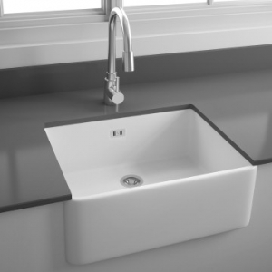 Tulip Kitchen Sink 595x475mm White