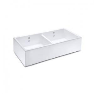 Shaker D/Bowl 900 Butler Sink 895x465mm White