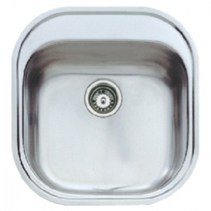 Stylo 1B Prep Bowl with Tap Hole & Overflow 465x485x160mm Polished Stainless Steel