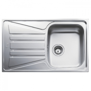 Basico 1B 1D Reversible Single Bowl Drop-In Sink with Single Drainer 790x500x150mm Unpolished Stainless Steel