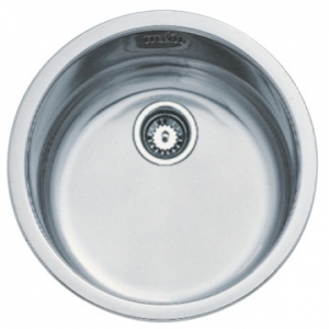 Basico 450 Prep Bowl Round 450x450x160mm Unpolished Stainless Steel