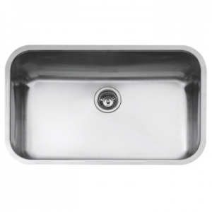 BE 74 43 25 Large Bowl Underslung Sink 787x482x250mm Polished Stainless Steel