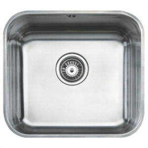 BE 45 40 Plus Single Bowl Underslung Sink 479x429x200mm Polished Stainless Steel