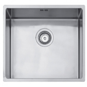 Linea R15 40.40 Single Bowl Underslung Sink 440x440x184mm Polished Stainless Steel