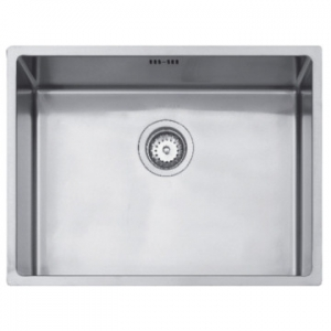 Linea R15 50.40 Single Bowl Underslung Sink 540x440x193mm Polished Stainless Steel